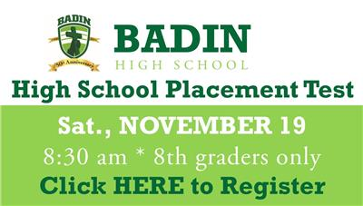 High School Placement Test Registration