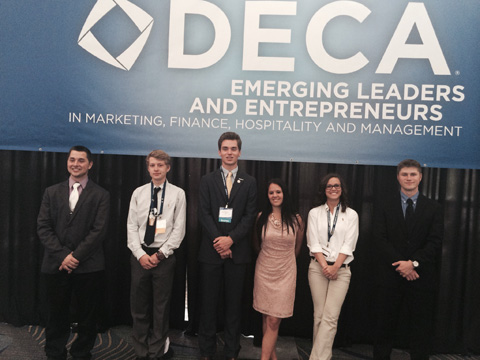DECA students at International competition